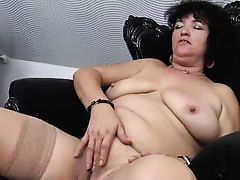 lewd brunette hair mature in